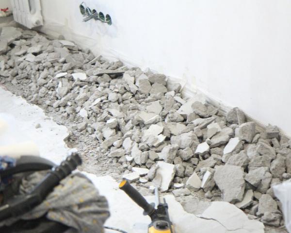Вывоз боя от бетонных блоков, фундамента, стен